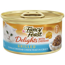 Fancy Feast Wet Cat Food Delights Grilled Tuna and Cheddar Feast in Gravy