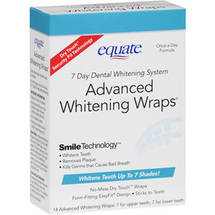 Equate 7 Day Dental Whitening System Advanced Whitening Wraps