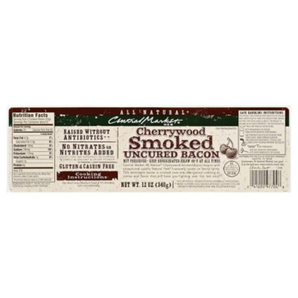 Central Market Cherrywood Smoked Uncured Bacon