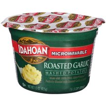 Idahoan Roasted Garlic Microwavable Mashed Potatoes