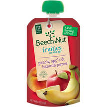 Beech Nut On-The-Go Peach Apple & Banana Puree Fruities
