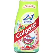 Colgate Liquid Gel 2-in-1 Kids Watermelon Burst Toothpaste and Mouthwash