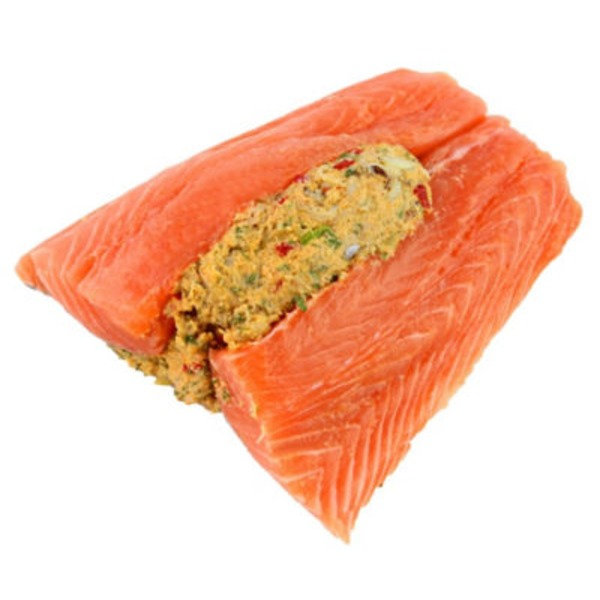 Atlantic Salmon With Crab Dressing