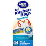 Great Value Vanilla Scent Odor Control Drawstring Tall Kitchen Bags