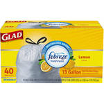 Glad Fresh Lemon Tall Kitchen Drawstring Garbage Bags