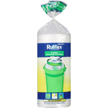 Ruffies Extra Large Trash Bags Clear