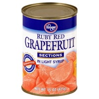 Kroger Ruby Red Grapefruit Sections In Light Syrup