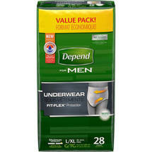 Depend FIT-FLEX Maximum Absorbency Underwear for Men L/XL