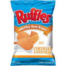 Ruffles Cheddar & Sour Cream Ridged Potato Chips