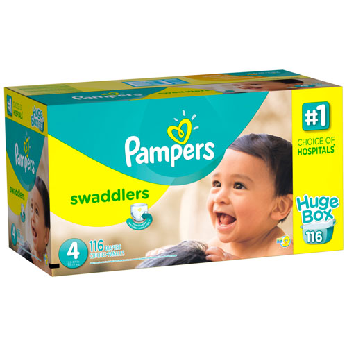 Pampers Swaddlers Diapers Huge Box Size 4
