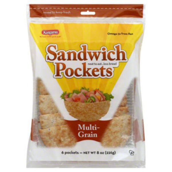 Kangaroo Sandwich Pockets Multi-Grain - 6 CT