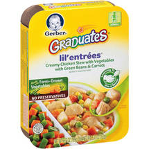 Gerber Graduates Lil' Entrees Creamy Chicken Stew with Vegetables with Green Beans & Carrots