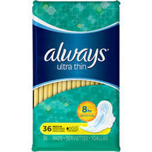 Always Ultra Thin Pads Regular w/ Wings Unscented