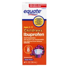 Equate Children's Ibuprofen Grape Suspension Pain Reliever