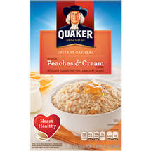 Quaker Peaches & Cream Instant Oatmeal 10 Ct/12.3 Oz
