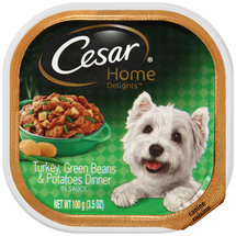 Cesar Home Delights Canine Cuisine Turkey Green Beans & Potatoes Dinner in Sauce Wet Dog Food