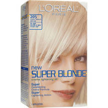 L'Oreal Paris Super Blonde Creme Lightening Kit Super Bleach Blonde 205