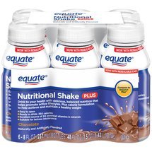 Equate Chocolate Nutritional Shake Plus