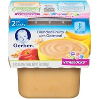 Gerber Blended Fruits with Oatmeal Purees-Fruit/Grain 2nd Foods