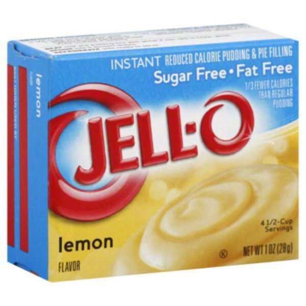 Jell-O Sugar Free Fat Free Lemon Instant Reduced Calorie Pudding & Pie Filling Mix