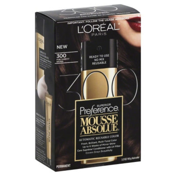 Superior Preference Mousse Absolue Pure Darkest Brown 300 Hair Color