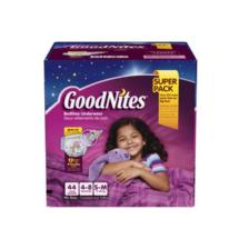 GoodNites Girls' Bedtime Underwear Super Pack S/M