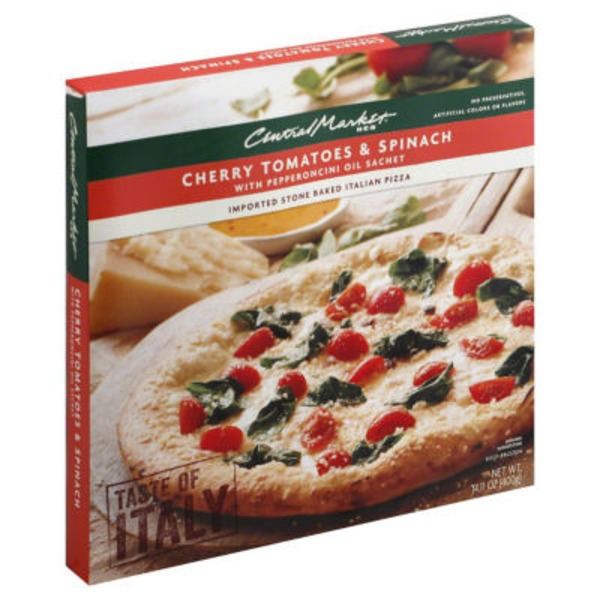 Central Market Cherry Tomato & Spinach Pizza