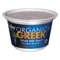 Wallaby Organic Greek Whole Milk Blended Blueberry Yogurt