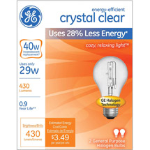 GE energy-efficient crystal clear 29 watt A19