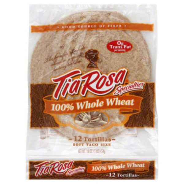 Tia Rosa 100% Whole Wheat Soft Taco Size Tortillas