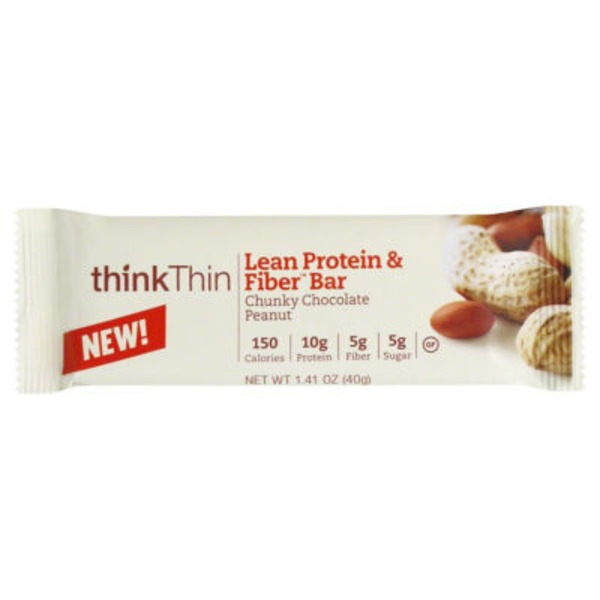 thinkThin Protein & Fiber Bar Chunky Chocolate Peanut
