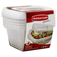 Rubbermaid Take Alongs Containers + Lids Deep Squares - 4 CT