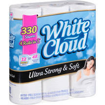 White Cloud Ultra Strong and Soft Bath Tissue 330 Sheets