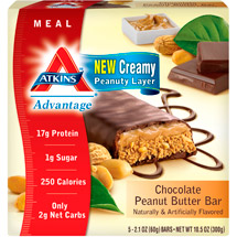 Atkins Advantage Bar Chocolate Peanut Butter