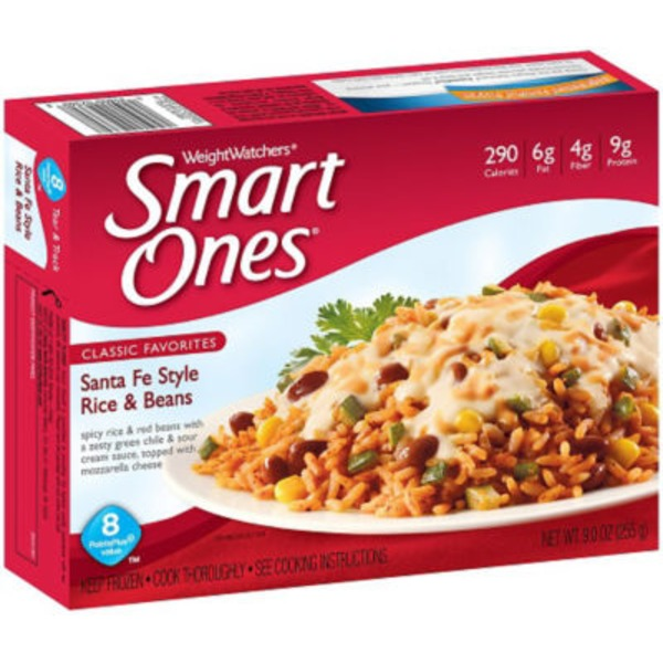 Weight Watchers Delicious Mexican Flavors Santa Fe Rice & Beans Frozen Entree