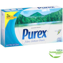 Purex Mountain Breeze Scent Fabric Softener Sheets