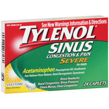 Tylenol Severe Sinus Congestion & Pain Daytime Non-Drowsy Caplets