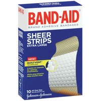 Band Aid® Brand Adhesive Bandages Sheer Extra Large All One Size 1 3/4