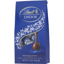 Lindt Dark Chocolate W/A Smooth Filling Lindor Truffles