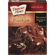 Duncan Hines: Chocolate Lover's Double Fudge Brownies