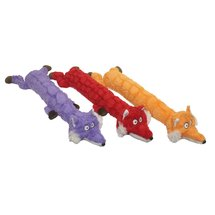 Multipet Onesz Plush Long Fox Dog Toy