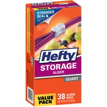 Hefty Storage Slider Bags Quart