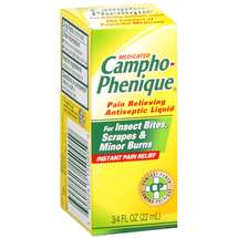Medicated Campo-Phenique For Insect Bites Scrapes & Minor Burns Pain Relieving Antiseptic Liquid