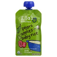 Ella's Kitchen Pears Apples + Baby Rice, 2 (from 6 Months)