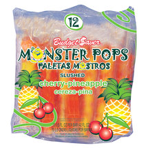 Budget Saver Slushed Cherry-Pineapple Monster Pops