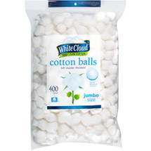 White Cloud Jumbo Size Cotton Balls