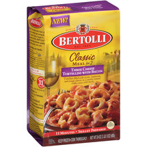 Bertolli Classic Meal for 2 Three Cheese Tortellini with Bacon
