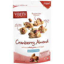 Van's Gluten Free Cranberry Almond Soft Baked Whole Grain Granola Clusters