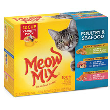 Meow Mix Market Select Seafood Wet Cat Food Variety Pack