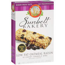 Sunbelt Bakery Low Fat Oatmeal Raisin Chewy Granola Bars